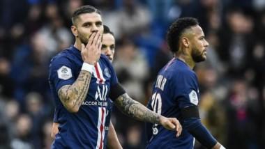 PSG sacude al Angers con goles de Sarabia, Icardi y Neymar.