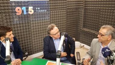 Bulacios y Friedich destacaron el rol social y económico del agua durante la entrevista con Cadena Tiempo