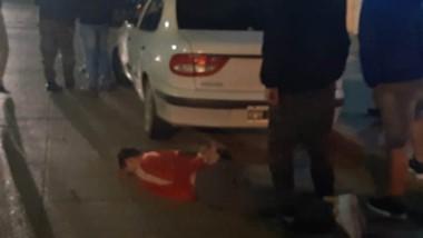 Fue necesario un amplio despliegue policial para poder atrapar al acusado de disparar contra Fitipaldi.