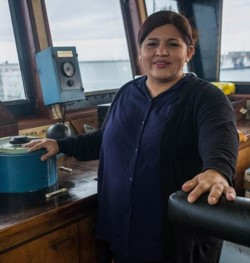 Nancy  Jaramillo es la capitana del  Eris Bruce. Un camino nada fácil que recorrió llegando al éxito.