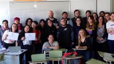Los docentes de la UNPSJB junto  a los  estudiantes compartieron una valiosa experiencia educativa.