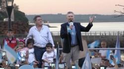 Macri pidió en Posadas a sus seguidores que convenzan a los indecisos.