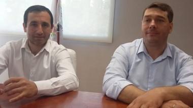 Damián Biss y Marcelo Griffiths en el primer encuentro formal.