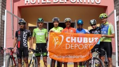 Los siete participantes del seleccionado masculino de ciclismo.