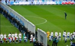 Emotivo momento que se vivió en el  Olímpico del Hertha Berlín.