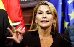 La autoproclamada presidenta boliviana agregó que quieren
