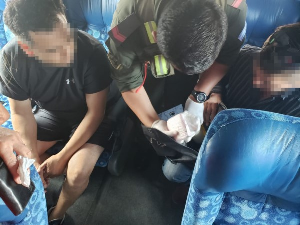 Cocaína incautada en .un colectivo que iba hacia Caleta Olivia.