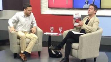 El abogado Almenar, es entrevistado por el periodista Martín Berrade por la televisión pública del Chubut.