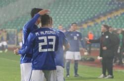 Almirón le dio la victoria a Paraguay sobre Bulgaria.