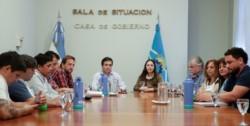 El Consejo Directivo reunido en Rawson. (Foto: Daniel Feldman / Jornada)