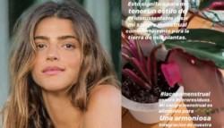 """""""Mi sangre menstrual es alimento para una armoniosa integración de nuestra naturaleza, proporcionando alimentos y energía de manera sostenible""""."""