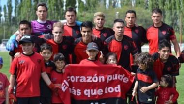 El plantel de Gaiman Fútbol Club que luego de derrotar a J.J Moreno por 3 a 2 en Madryn,  jugará la segunda final consecutiva de la Liga del Valle.