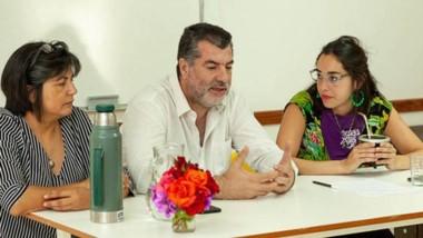 Los encuentros contaron con la visita de Néstor García y Andrea Lescano, padres de Micaela.