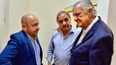 Referentes. Desde la izquierda, Sastre, Linares y Gioja, que quiere traer a Chubut vino sanjuanino.