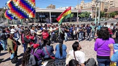 Protesta. Como en otros lugares del país, en el Valle Inferior también hubo manifestaciones de apoyo para Evo Morales tras el golpe de Estado.
