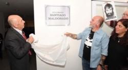 En el acto participó el rector de la Universidad, Juan José Castelucci, y Sergio Maldonado, el hermano del tatuador.