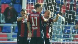 Con un gol de Rodrigo Palacio, el Rossoblu igualó 2-2 de local ante Parma.