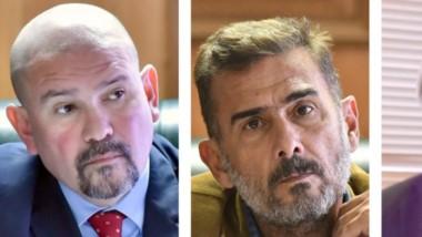 Trío. Desde la izquierda, Barrios, Defranco y Dal Verme, que revisaron la condena de primera instancia.