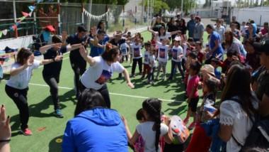 En el Usma, la educación física infantil tuvo su cierre de año, con un gran número de chicos participantes.