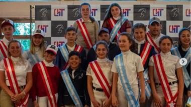 Parte de la delegación en la entrega de premios del Torneo Provincial.