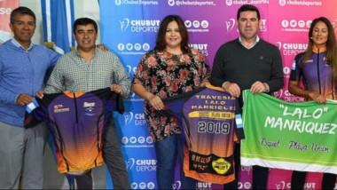 En las instalaciones de Chubut Deportes se presentó ayer la sexta travesía que une Esquel con Playa Unión.