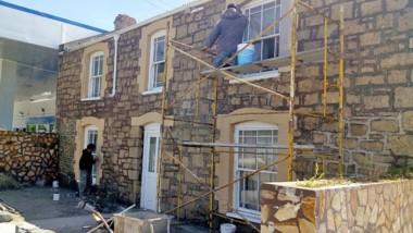 Los propietarios tuvieron chance de elegir el color para las fachadas.