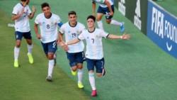 Franco Orozco, con un doblete, y Matías Godoy marcaron para la Argentina.