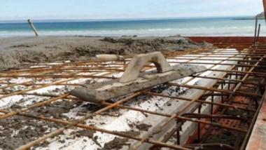 Cemento fresco. Las obras avanzan en una zona que es Patrimonio de la Humanidad y que se está mejorando.