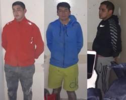 Los tres condenados el día en el que fueron atrapados