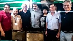Nicolás Maduro se reunió en Cuba con dirigentes de la CTA Autónoma en el marco del