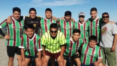 Hubo acción por el torneo de fútbol playa que organiza la Liga del Valle en Puerto Madryn.