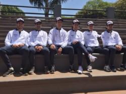 Toda la delegación argentina, presente para despedir al equipo de cara a las finales de la Copa Davis, del 18 al 24 de noviembre.