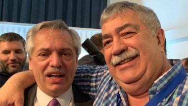 Aliados. Alberto Fernández, presidente electo, junto con Héctor González, integrante de la cúpula de la CGT.