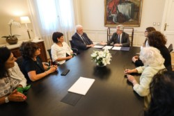 Ginés, junto al presidente y el ministro del Interior Eduardo De Pedro el día de la asunción.