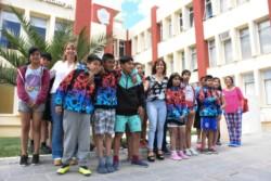 Aprendizaje. Además de pasarla bien, los alumnos aprovecharon para conocer el recinto parlamentario.