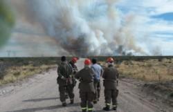 El intendente Gustavo Sastre se acercó a la zona del siniestro. (Foto: Prensa Municipal)