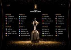 """Así quedaron las zonas de la Copa Libertadores 2020: River cayó en el """"Grupo de la Muerte"""", Boca y Racing quedaron más aliviados."""