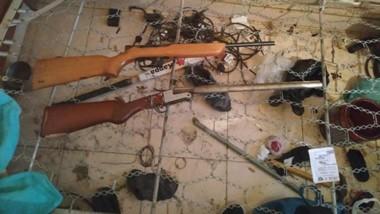 Armas de fuego de diversos calibres fueron incautadas en  Comodoro.