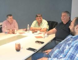 Ávila y González, en el centro, junto con Gómez, Rey y Silva. Cuatro gremios fuertes buscan un lugar en el PJ.