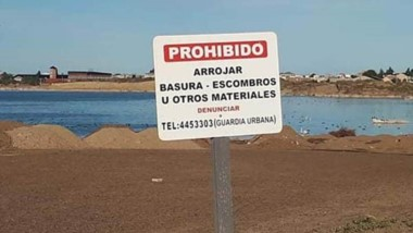La Laguna de Rada Tilly al borde del colapso.