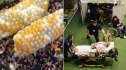 Una estampida humana dejó 17 heridos durante un reparto de regalos en Australia.