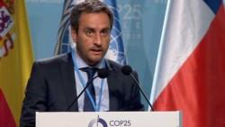 Juan Cabandié en la Cumbre Climática que se celebró hace unas semanas en Madrid