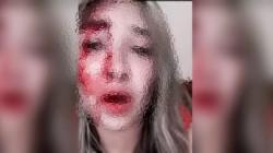 Débora Actis junto a su violenta pareja, Ramiro Cornalis. (Facebook)
