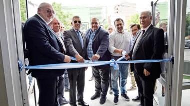 La inauguración de las nuevas obras que se llevaron adelante en la sede del Banco Chubut en Trelew.