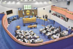 Imagen del interior de la Legislatura rionegrina. (foto: gentileza diario Río Negro).