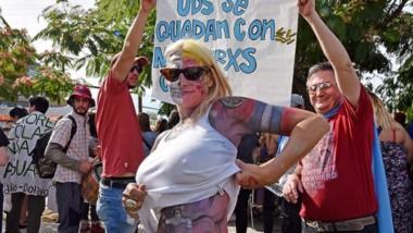 Tatuado en la piel. Así se manifestaron algunos de los activistas en la defensa del recurso del agua.