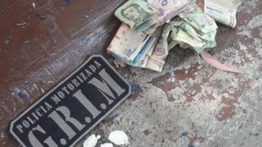 Once gramos de cocaína y dinero en efectivo fueron incautados ayer.