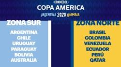 Así quedaron conformados los grupos de la Copa América 2020, que se realizará en Argentina y Colombia del 12 de junio al 12 de julio.