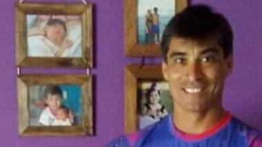 Gustavo Ibarra tras el Ironman.