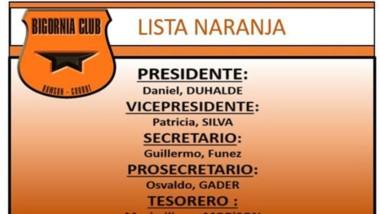 """""""Lista Naranja"""", que encabeza Daniel Duhalde, junto con Patricia Silva."""